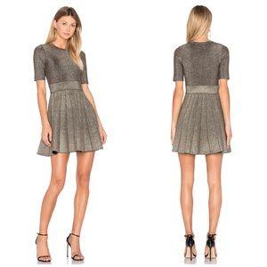 New ALC Revolve Susana Metallic Knit Dress